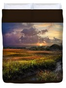 Marsh At Sunrise Duvet Cover