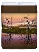 Marsh Oil Painting Duvet Cover