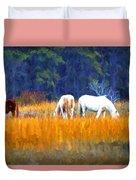 Marsh Ponies Duvet Cover