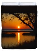 Ocean City Sunset At Old Landing Road Duvet Cover
