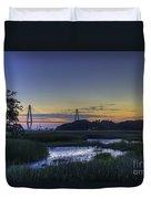 Marsh To Bridge Duvet Cover