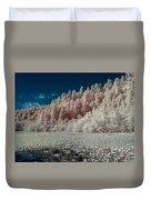 Marshall Pond In Infrared Duvet Cover