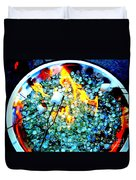 Marshmallow Fire Abstract Duvet Cover