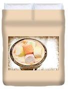Marshmallow Peach Yogurt Parfait Duvet Cover