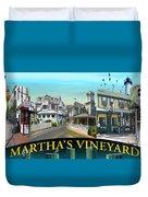 Martha's Vineyard Collage Duvet Cover