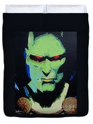 Martian Manhunter - A Close Encounter Duvet Cover