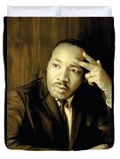 Martin Luther King Jr Artwork Duvet Cover by Sheraz A