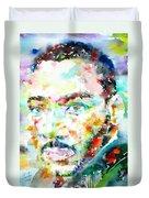Martin Luther King Jr. - Watercolor Portrait Duvet Cover