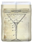 Martini Glass Patent Drawing Duvet Cover