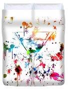 Martini Paint Splatter Duvet Cover
