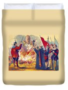 Martyrdom Of Ridley And Latimer, 1555 Duvet Cover