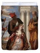 Martyrdom Of Saint Justina Duvet Cover