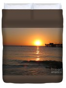 Marvelous Gulfcoast Sunset Duvet Cover