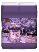 Mary And John Tyler Memorial Near Infrared Lavender And Pink Duvet Cover