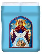 Mary And The Holy Church Duvet Cover