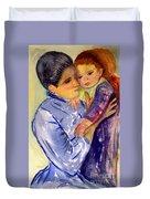 Mary Cassatt Helene De Septeuil In Watercolor Duvet Cover