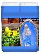 Mary In Springtime Duvet Cover