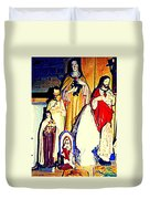 Mary Joseph And Jesus Vintage Religious Catholic Statues Patron Saints And Angels Cb Spandau Quebec Duvet Cover