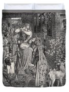Mary Magdalene At The Door Of Simon Duvet Cover