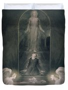 Mary Magdalene At The Sepulchre Duvet Cover by William Blake