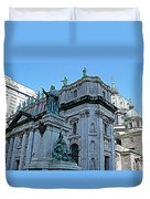 Mary Queen Of The World Cathedral - Side View In Hdr Duvet Cover
