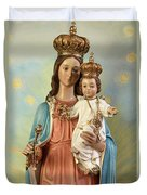 Mary Statue At Taybeh Village Duvet Cover