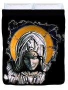 Mary Super Petram Duvet Cover by Steve Bogdanoff