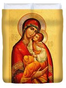 Mary The God Bearer Duvet Cover by Philip Ralley