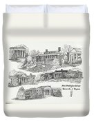 Mary Washington College Duvet Cover