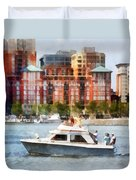 Maryland - Cabin Cruiser By Baltimore Skyline Duvet Cover