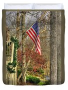 Maryland Country Roads - Flying The Colors 1a Duvet Cover by Michael Mazaika