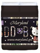 Maryland License Plate Duvet Cover