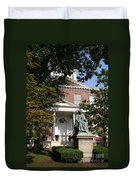 Maryland State House And Statue Duvet Cover