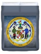 Maryland State Seal Duvet Cover