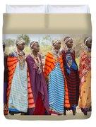Masai Women Kenya Duvet Cover
