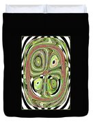 Mask 10 Curled Up Duvet Cover