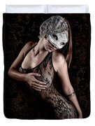 Mask And Lace Duvet Cover