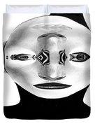 Mask Black And White Duvet Cover