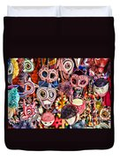 Mask Me In El Casco By Diana Sainz Duvet Cover