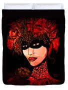 Masked Woman Duvet Cover