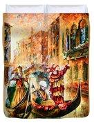 Masks Of Venice Duvet Cover