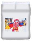 Maslenitsa Dolls 4. Russia Duvet Cover