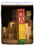 Mason - Alphabet Blocks Duvet Cover