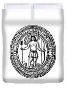 Massachusetts Bay Colonyseal, 1628 Duvet Cover
