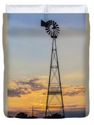 Massey Windmill Silhouette Duvet Cover