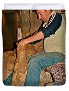 Master Potter At Work In Avanos-turkey Duvet Cover by Ruth Hager
