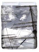 Masts Of Sailing Ships Duvet Cover