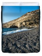 Matala Beach Duvet Cover
