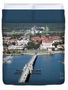 Matanzas Harbor St Augustine Florida Duvet Cover