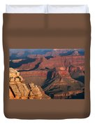 Mather Point At Sunrise On The Grand Canyon Duvet Cover